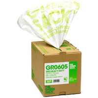 Green Sack White Pedal/Office Bin Liners