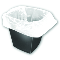 2Work Square Bin Bags White 28g. Pack of 1000