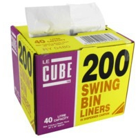 Robinson Young 40 Litre Le Cube Swing Bin Liners. Pack of 200