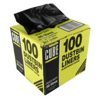 Robinson Young 80 Litre Le Cube Dustbin Liners. Pack of 100